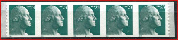 US Stamp #3475A MNH – George Washington PS5 #B11 Coil