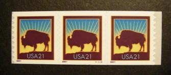 US Stamp #3475 MNH – Bison PNC3 P/V
