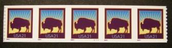 US Stamp #3475 MNH – Bison PNC5 P/V