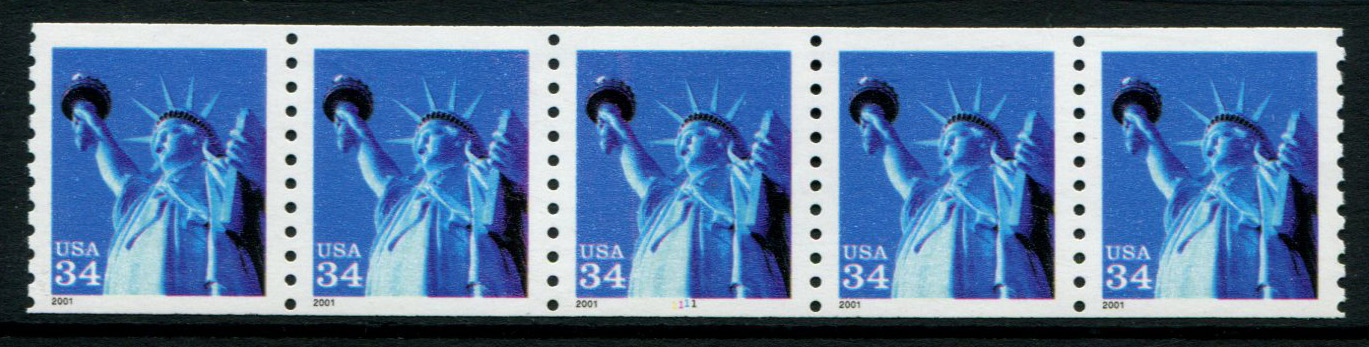 US Stamp #3476 MNH – Statue of Liberty PS5 #1111 Coil