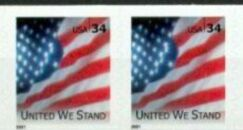 US Stamp #3550 MNH – United We Stand – Coil Pair