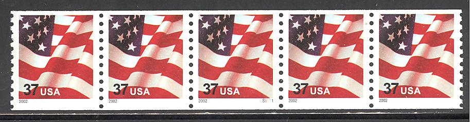 US Stamp #3631 MNH – US Flag – PS5 #1111 Coil