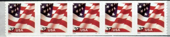 US Stamp #3632 MNH – US Flag – PNC5 Coil