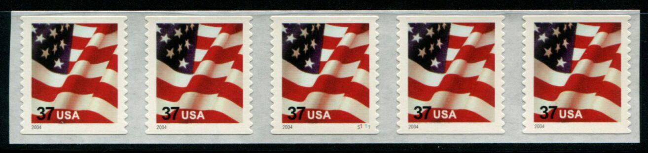 US Stamp #3633 MNH – US Flag – PS5 #B1111 Coil