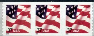 US Stamp #3633A MNH – US Flag – PS3 #B1111 Coil