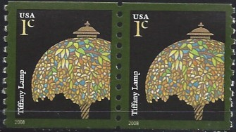 US Stamp #3758A MNH – Tiffany Lamp – Coil Pair
