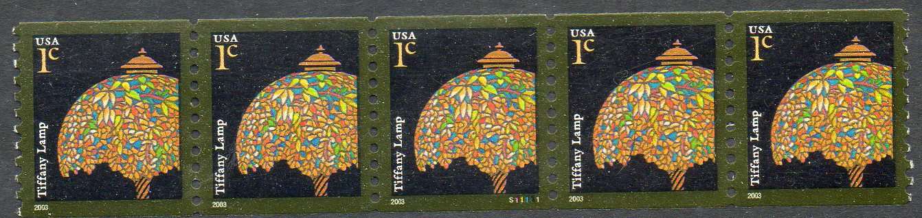 US Stamp #3758 MNH – Tiffany Lamp – PS5 #S11111 Coil