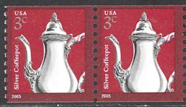 US Stamp #3759 MNH – Coffee Pot – Coil Pair