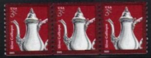 US Stamp #3759 MNH – Coffee Pot – Coil Strip of 3