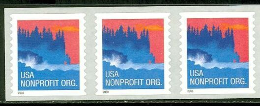 US Stamp #3874 MNH – Seacoast – Coil Strip of 3
