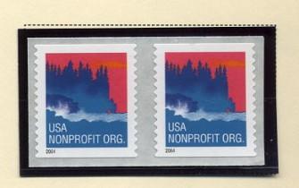 US Stamp #3875 MNH – Sea Coast – Coil Pair