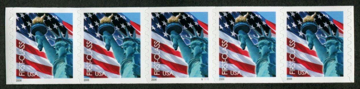 US Stamp #3968 MNH – Non-Den. Flag w/ Liberty PS5 #V1111 Coil