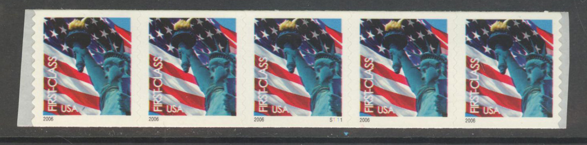 US Stamp #3969 MNH – Non-Den. Flag w/ Liberty PS5 #S1111 Coil
