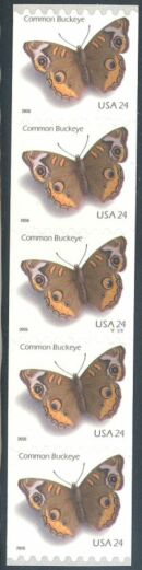 US Stamp #4002 MNH – Common Buckeye Butterfly – PS5 #V1111 Coil