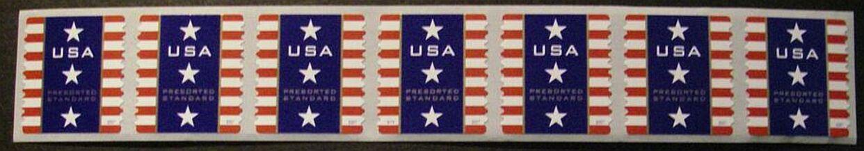 US Stamp #4157 MNH – Patriotic Banner – PS7 #V111 Coil w/ Back Nmbr