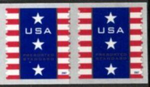 US Stamp #4158 MNH – Patriotic Banner – Coil Pair