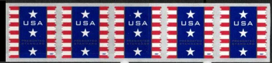 US Stamp #4158 MNH – Patriotic Banner – Coil Strip of 5