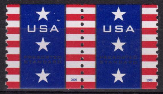 US Stamp #4385 MNH – Patriotic Banner – Coil Pair