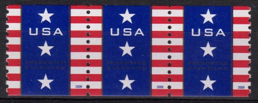 US Stamp #4385 MNH – Patriotic Banner – Coil Strip of 3
