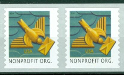 US Stamp #4495 MNH – Art Deco Bird – Coil Pair