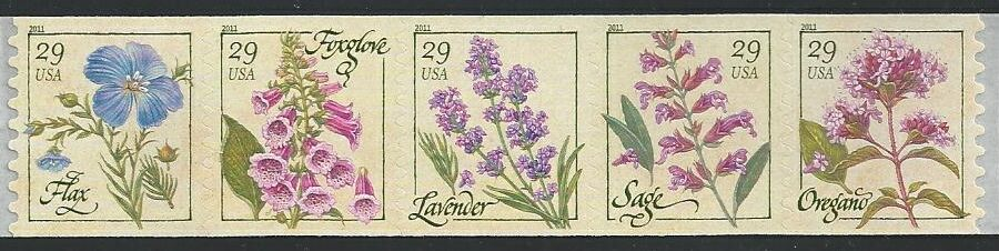 US Stamp #4517a MNH – Herbs – Coil Strip of 5