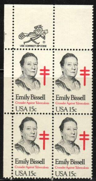US Stamp #1823 MNH Emily Bissell ZIP Block / 4