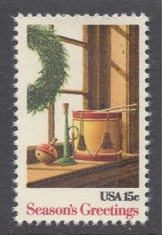 US Stamp #1843 MNH Christmas Wreath Single