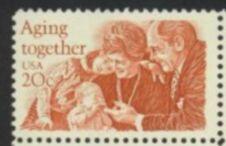 US Stamp #2011 MNH Aging Together Single