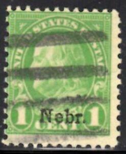 US Stamp # 669 – Benjamin Franklin – 'Nebr.' Overprint