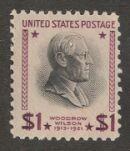 US Stamp # 832 MNH – Woodrow Wilson Single