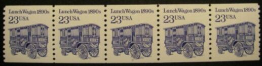 US Stamp #2464 MNH – Lunch Wagon Coil PS5 #2