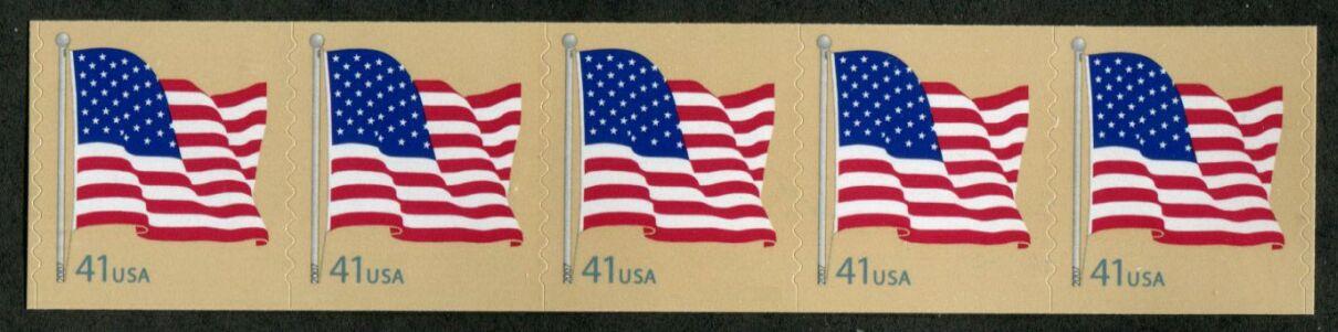 US Stamp #4186 MNH – US Flag – Coil Strip of 5