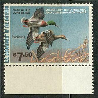 US Scott #RW47 MNH – PHANTASTIC Pair of Mallards in Flight