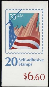 US Stamp #BK276 MNH – Flag Over A City Booklet