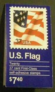 US Stamp #BK291A MNH – U.S. Flag Booklet