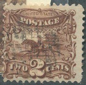 US Stamp # 113 – 1869 Pictorial w/ Fancy Cancel – SUPER Single