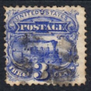 US Stamp # 114 – 1869 Locomotive Pictorial w/ Fancy Cancel