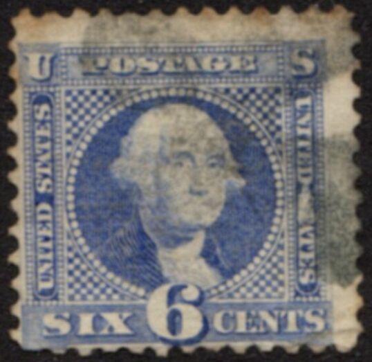 US Stamp # 115 – George Washington – 1869 Pictorial w/ Fancy Cancel