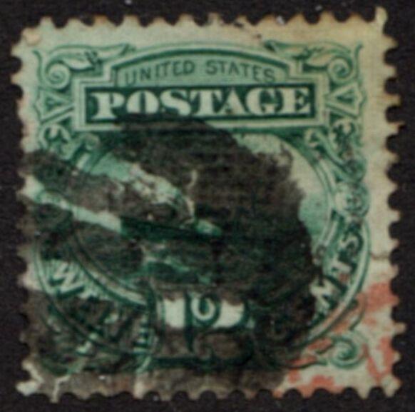 US Stamp # 117 – S.S. Adriatic – 1869 Pictorial w/ Fancy Cancel