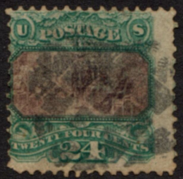 US Stamp # 120 Declaration of Independence Pictorial w/Fancy Cancel