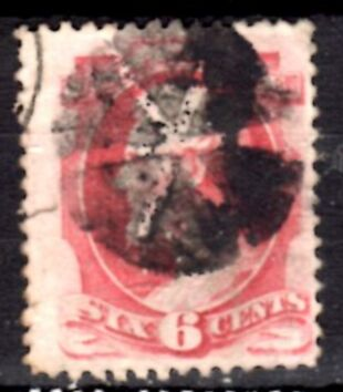 US Stamp # 148 – Abraham Lincoln Fancy Cancel National Bank Note Iss.