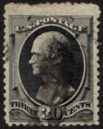 US Stamp # 154 – Alexander Hamilton – National Bank Note Issue