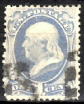 US Stamp # 156 – Benjamin Franklin – Continental Bank Note Issue