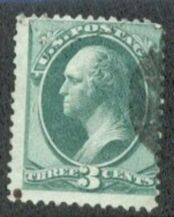 US Stamp # 158 – George Washington – Continental Bank Note Issue