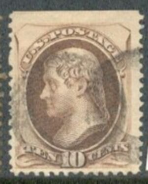 US Stamp # 161 – Thomas Jefferson – Continental Bank Note Issue