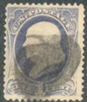 US Stamp # 182 – Benjamin Franklin – American Bank Note Issue