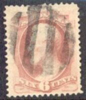 US Stamp # 186 Abraham Lincoln – American Bank Note Issue