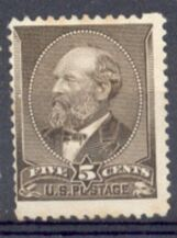 US Stamp # 205 – James A. Garfield – American Bank Note Issue