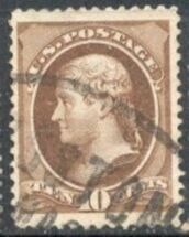 US Stamp # 209 – Thomas Jefferson – American Bank Note Issue