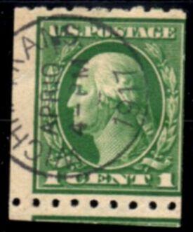 US Stamp # 410 – George Washington – 1912 Regular Issue Coil